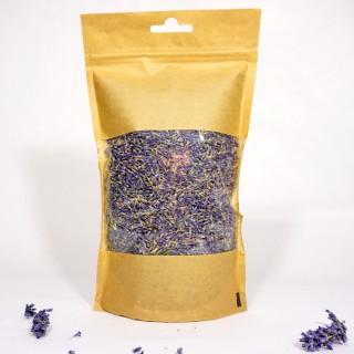 Organic blue lavender flowers